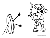 Archery Coloring Page 2