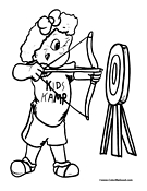 Archery Coloring Page 4