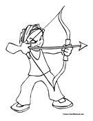 Archery Coloring Page 5