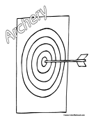 Bow and Arrow Target Coloring