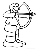 Archery Coloring Page 6