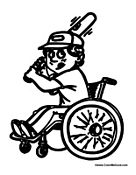 Kid in Wheelchair Baseball