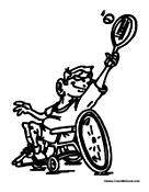 Kid in Wheelchair Plays Tennis