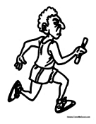 Running Coloring Pages - GetColoringPages.com | 175x136