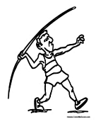Man Throwing Javelin