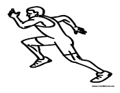 Man Running Track and Field
