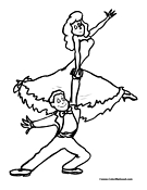 Ballet Coloring Page 2