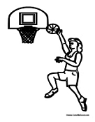 Girl Dunking the Basketball
