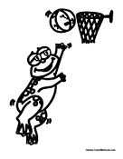Frog Playing Basketball