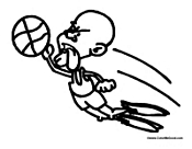 Kobe Bryant Coloring Page