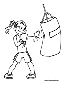 Boxing Coloring Pages