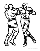 Two Men Boxing in the Ring