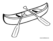 Canoe Coloring Sheet