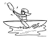 Kayak Coloring Page 3