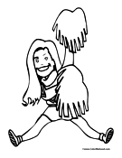 Cheerleading Coloring Page 5