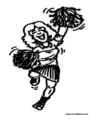 Girl Cheering Cheer Leader