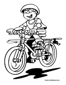 Girl bike riding coloring pages ~ Bike Riding Coloring Pages