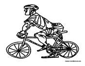 Man on a Bike with Helmet