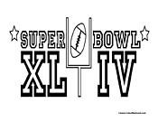 Super Bowl 44 Coloring Page