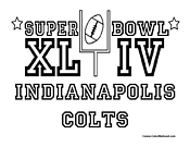 Super Bowl 44 Colts Coloring