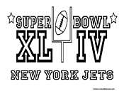 Super Bowl 44 Jets Coloring