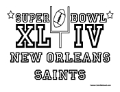 Super Bowl 44 Saints Coloring