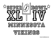 Super Bowl 44 Vikings Coloring