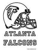 Atlanta Falcons Coloring Page