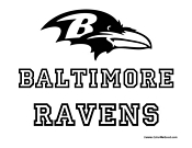 Coloring pictures of the ravens symbol coloring pages for Baltimore ravens coloring pages print