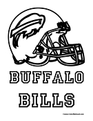 Buffalo Bills Coloring Page