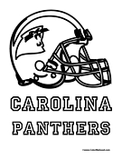 Nfl coloring pages for Panthers football coloring pages