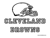 Cleveland Browns Coloring Page