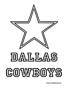 Nfl Coloring Pages Dallas Cowboys Logo Coloring Page Printable