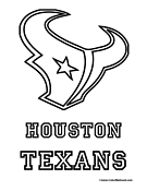 houston texans logo template nfl coloring pages