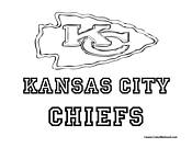 Kansas City Chiefs Coloring Page