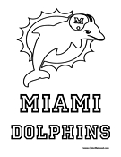 Miami Dolphins Coloring Page