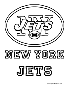 New York Jets Coloring Page