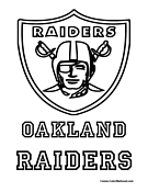 Oakland Raiders Coloring Page