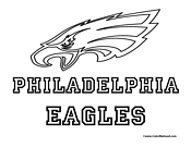 Philadelphia Eagles Coloring Page