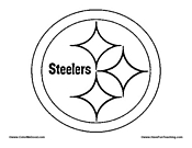 steelers logos coloring pages | NFL Coloring Pages