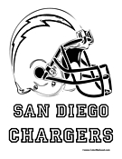 San Diego Chargers Coloring Page
