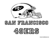 Nfl coloring pages for Sf 49ers coloring pages