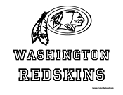 Washington Redskins Coloring Page