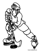 Hockey Coloring Page 5