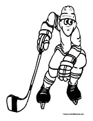 Hockey Coloring Page 6