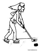 Hockey Coloring Page 8