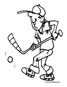 Street Hockey Coloring Page