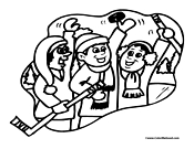 Hockey Team Coloring Page