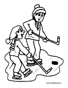 Ice Hockey Coloring Page