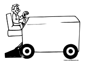 Hockey Zamboni Coloring Page